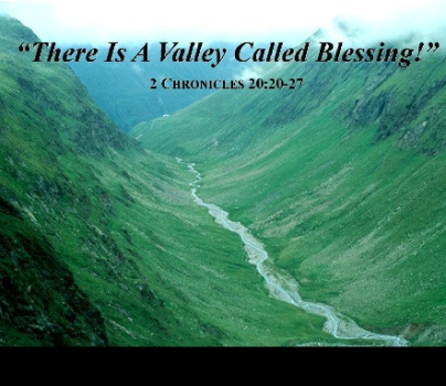 There Is A Valley Called Blessings