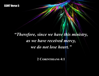 Here's My Commentary On 2 Corinthians 4:1!