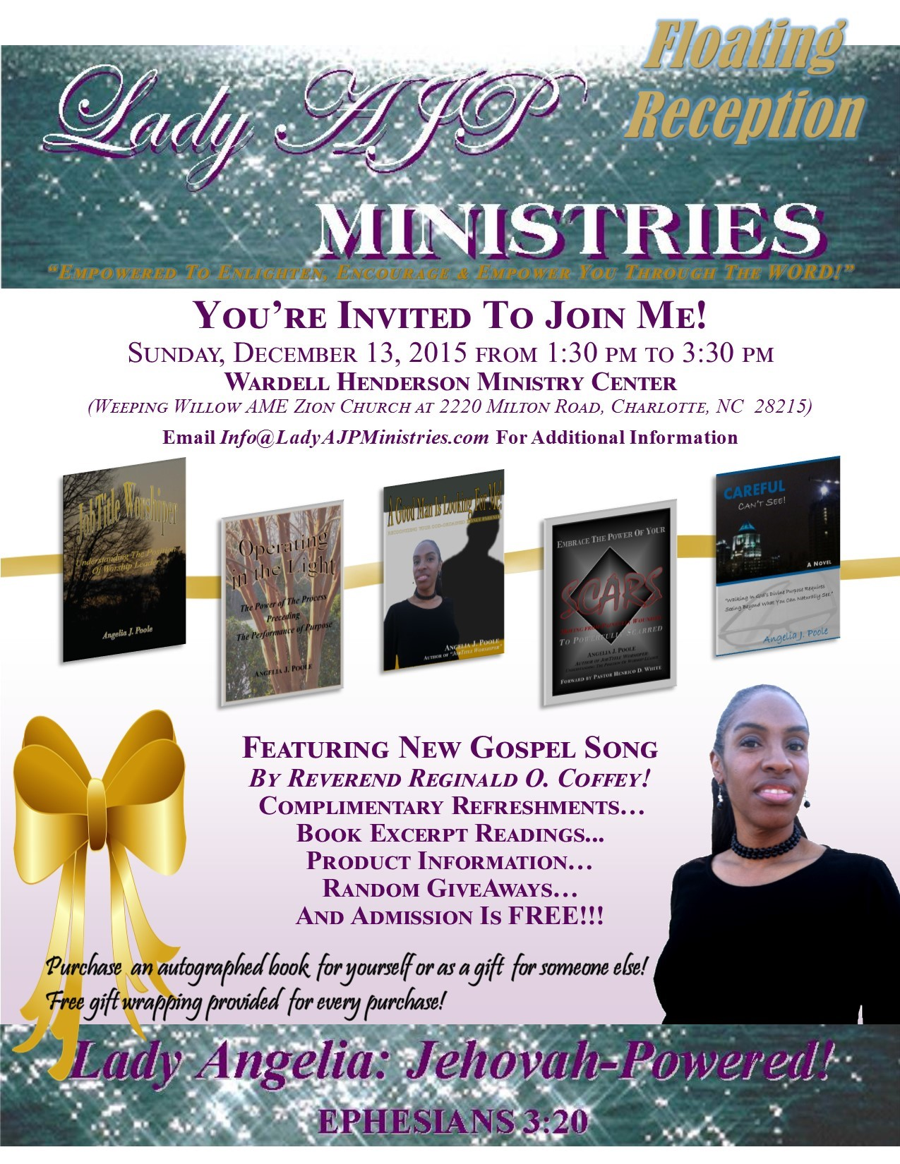 Lady AJP Ministries Reception Flyer
